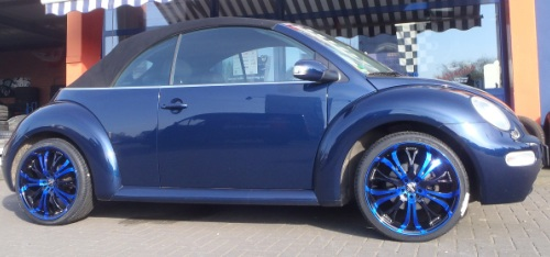VW Beetle - 19Zoll - Barracuda Tzunamee Candy blau